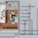 Apartament cu 2 camere ,  57 mp utili ,pe str. Sperantei , langa Lacul Morii .